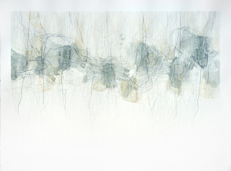 "Untitled, 22""x30"", watercolor, graphite on 140# Fabriano Artistico."