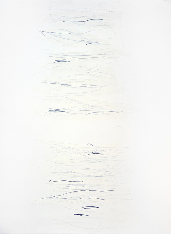 "Untitled, 30""x22"", oil stick, graphite on 140# Fabriano Artistico."