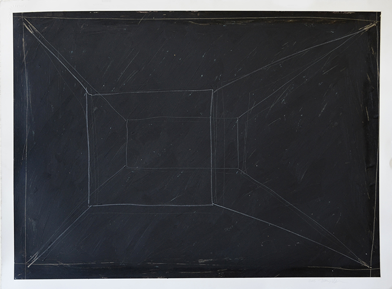 "Untitled 511, oil stick, prismacolor, graphite on 140# Arches, 22""x30"""