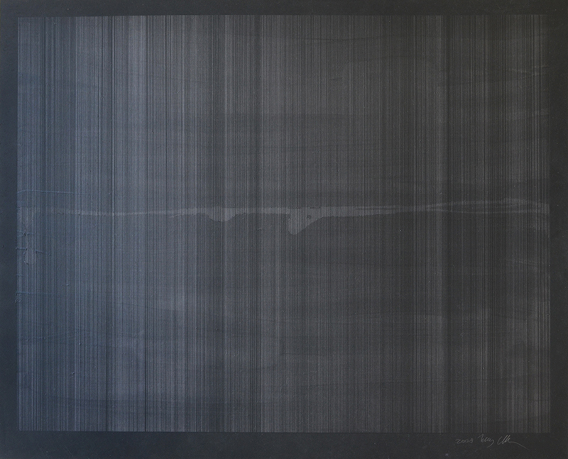 "Untitled 523, graphite, oil wash on acrylic primed masonite, 24""x30"""