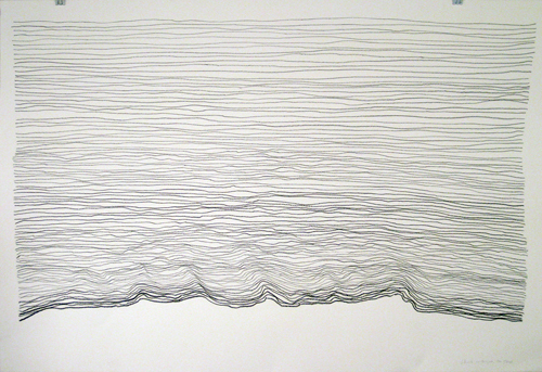 No Two Lines the Same, 30x44in., pencil on 90# white Stonehenge, 2009