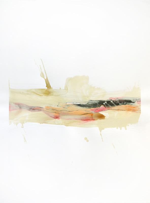 """Realization, 30""""x22"""", watercolor, prismacolor, graphite on 140# Fabriano Artistico."""