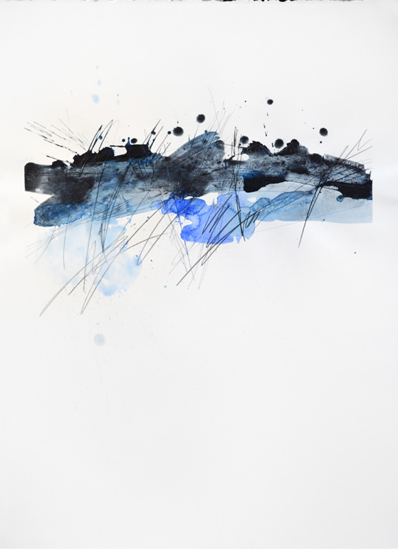 """Realization, 30""""x22"""", watercolor, graphite on 140# Fabriano Artistico."""